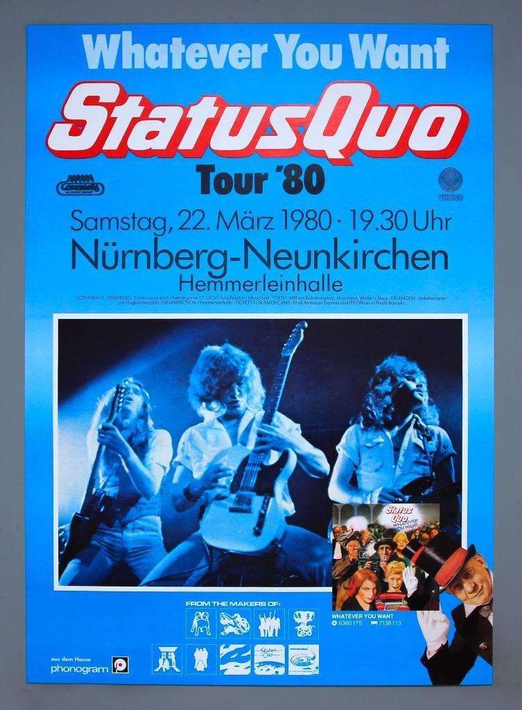 STATUS QUO ONLINE GIGOGRAPHY - Never Too Late Tour