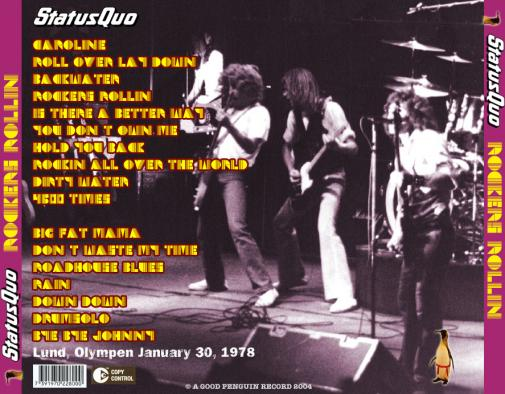 Status Quo Online Gigography Rockin All Over The World Tour